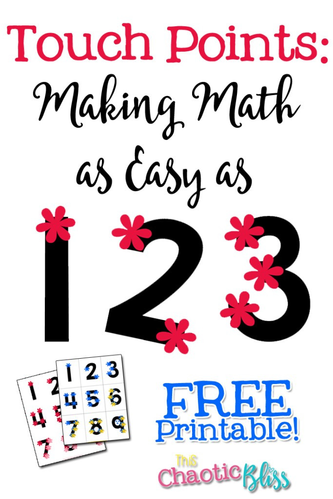 Touch Math Addition Worksheet touch Points Making Math as Easy as 1 2 3 Free Printable