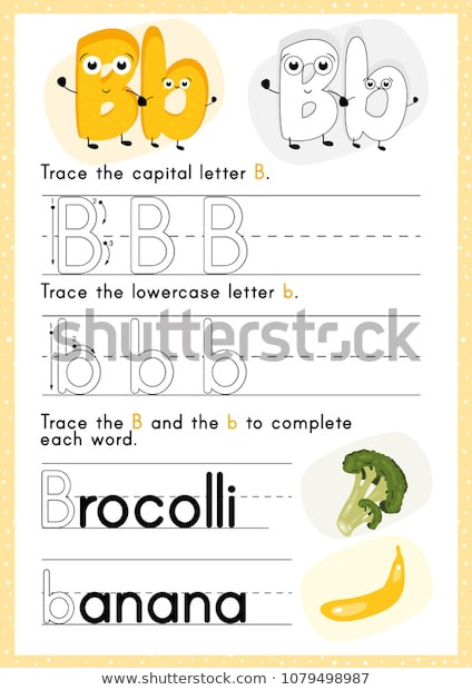 Tracing Letters Worksheet Az Alphabet Tracing Worksheet Alphabet Activity Pre เวกเตอร์สต็