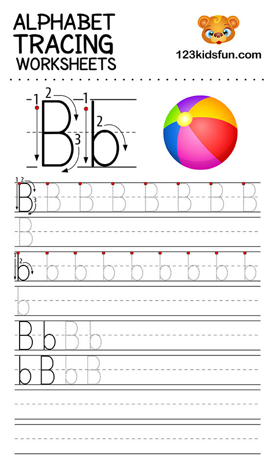 Tracing Letters Worksheet Az Alphabet Tracing Worksheets A Z Free Printable for Kids