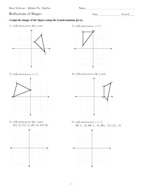 Transformations Of Graphs Worksheet Transformation Worksheets Math – Beatricehewub