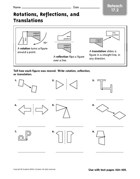 "Translation Rotation Reflection Worksheet Free Math Translation Worksheets لم يسبق له Ù…Ø ÙŠÙ"" الصور"
