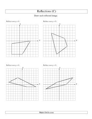 Translations Reflections and Rotations Worksheet Free Reflection Worksheet Geometry
