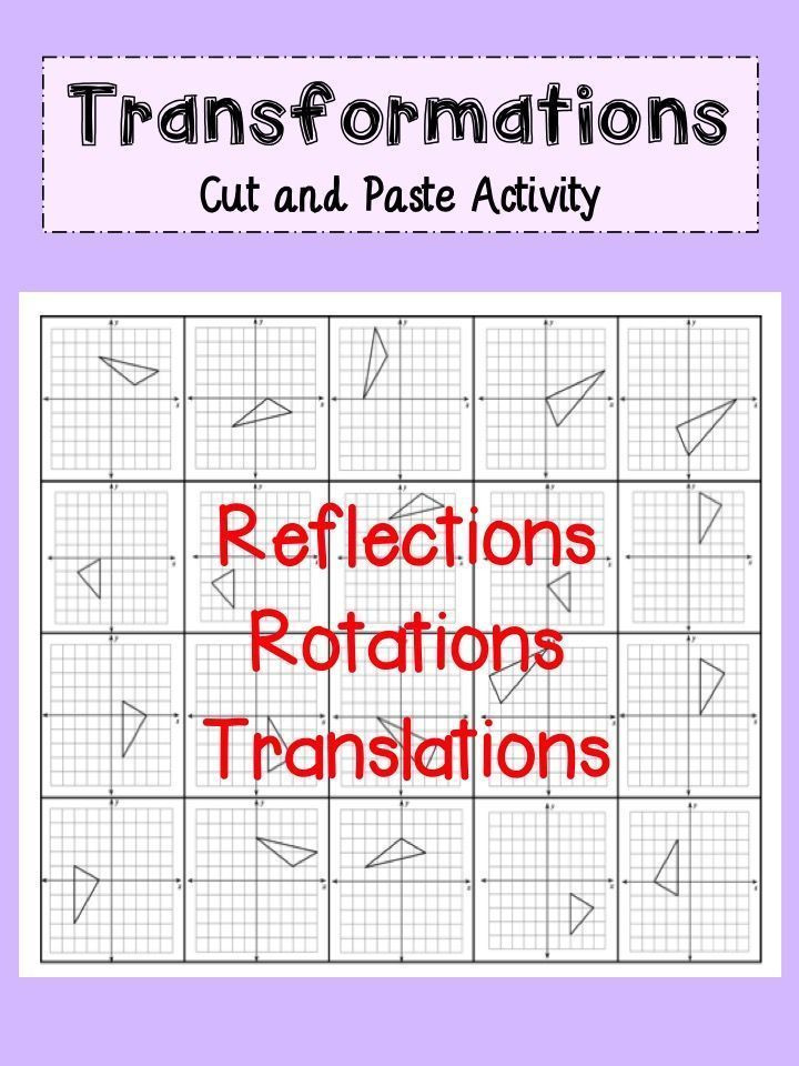 Translations Reflections and Rotations Worksheet Transformations Activity Reflections Rotations and