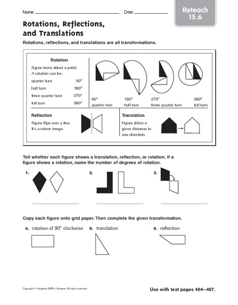Translations Reflections and Rotations Worksheet What are Translations Reflections and Rotations In Math لم