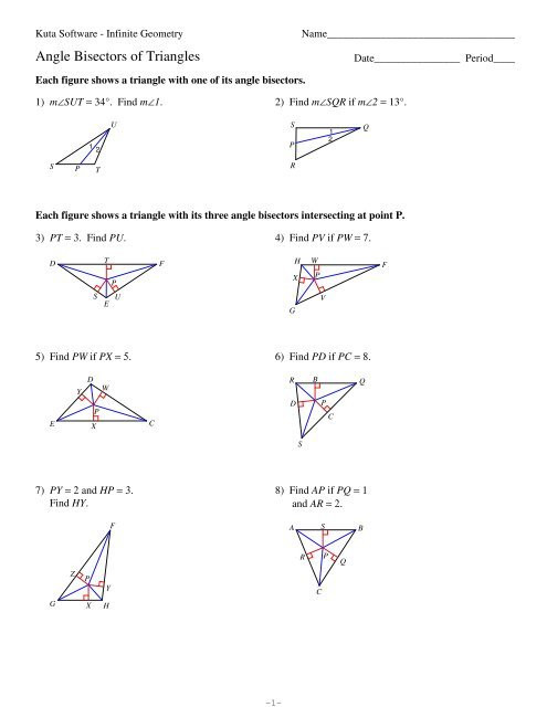 Triangle Interior Angles Worksheet Answers Interior Angles A Triangle Kuta Worksheet Pdf