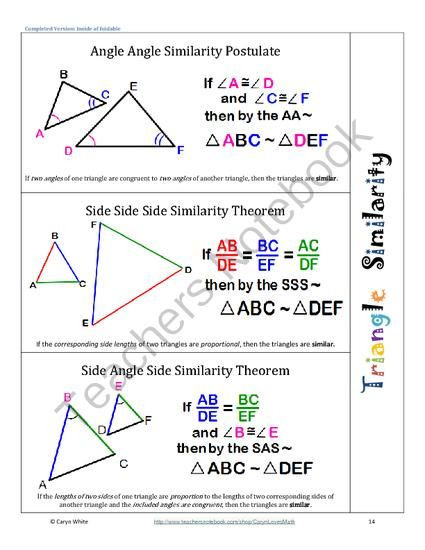 Triangle Proofs Worksheet Answers Similar Angles Proofs