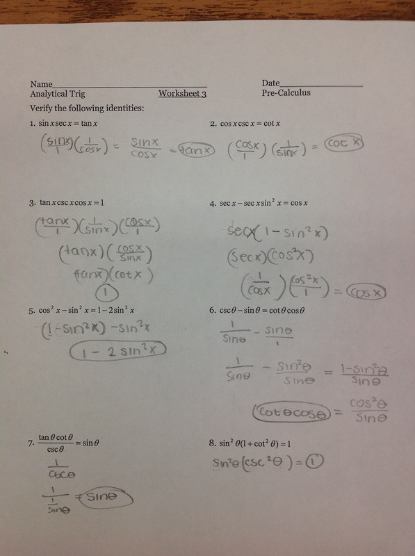 Trig Identities Worksheet with Answers 26 Trig Identities Worksheet with Answers Worksheet