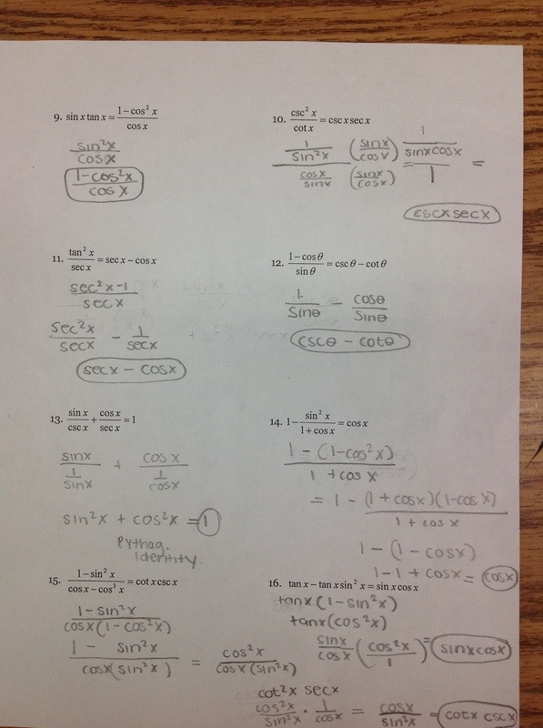 Trig Identities Worksheet with Answers 28 Trig Identities Worksheet Answers Worksheet Resource Plans