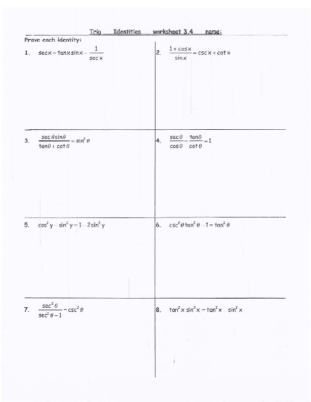 Trig Identities Worksheet with Answers Trig Identities Worksheet with Answers 2 [6ngeow5r92lv]
