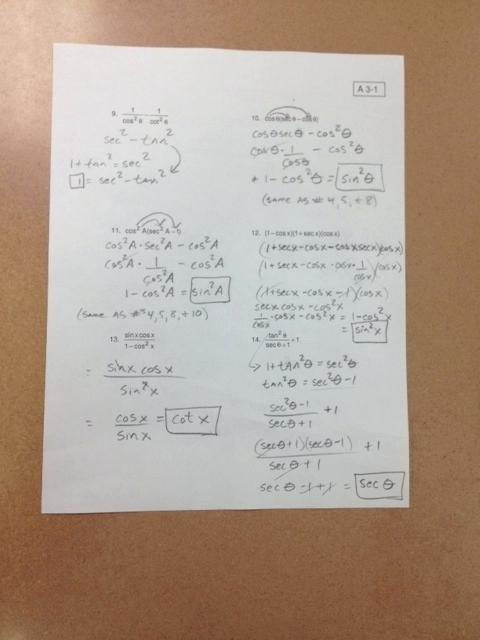 Trig Identities Worksheet with Answers Trig Identities Worksheet with Answers Nidecmege