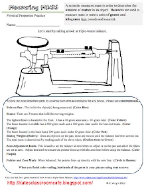 Triple Beam Balance Worksheet Pin On Physical Science