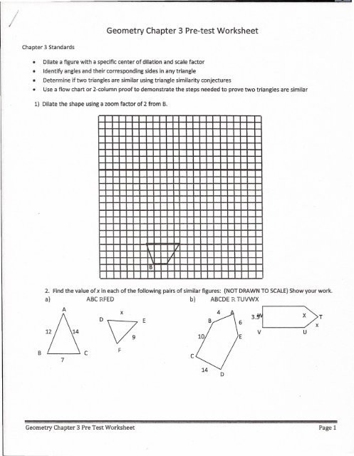 Two Column Proof Worksheet Chapter 3 Pre Test Worksheet