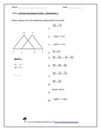 Two Column Proof Worksheet Simple Geometry Proofs Worksheets Worksheets for Kids