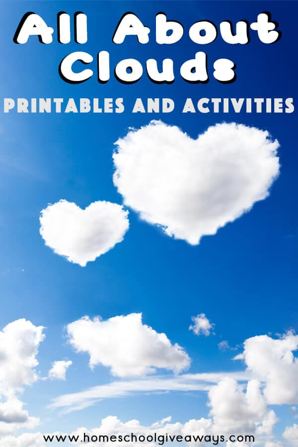 Types Of Clouds Worksheet Free All About Clouds Printables and Activities Homeschool