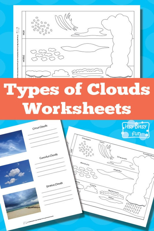 Types of Clouds Worksheets