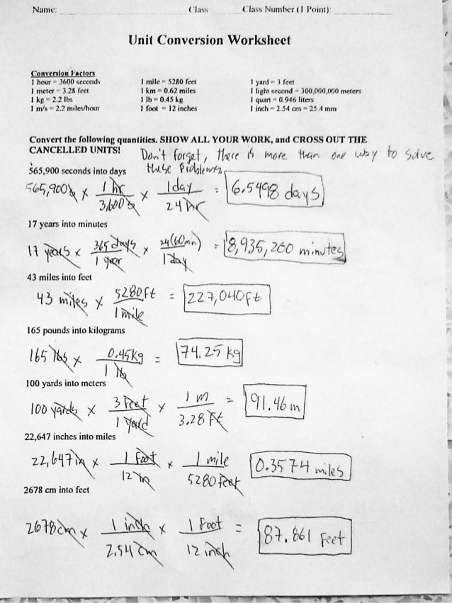 Unit Conversion Worksheet Chemistry 34 Dimensional Analysis and Conversion Units Worksheet