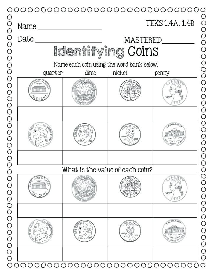 Values Of Coins Worksheet 30 Identifying Coins and Coin Values Worksheets