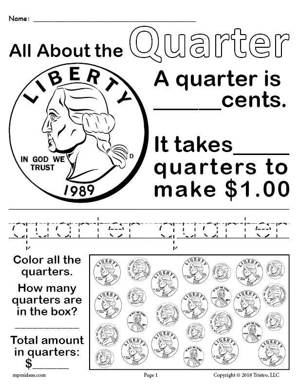 Values Of Coins Worksheet All About Coins 4 Printable Money Worksheets