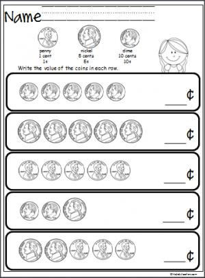 Values Of Coins Worksheet Free Coin Counting Math Worksheet Students Practice Adding