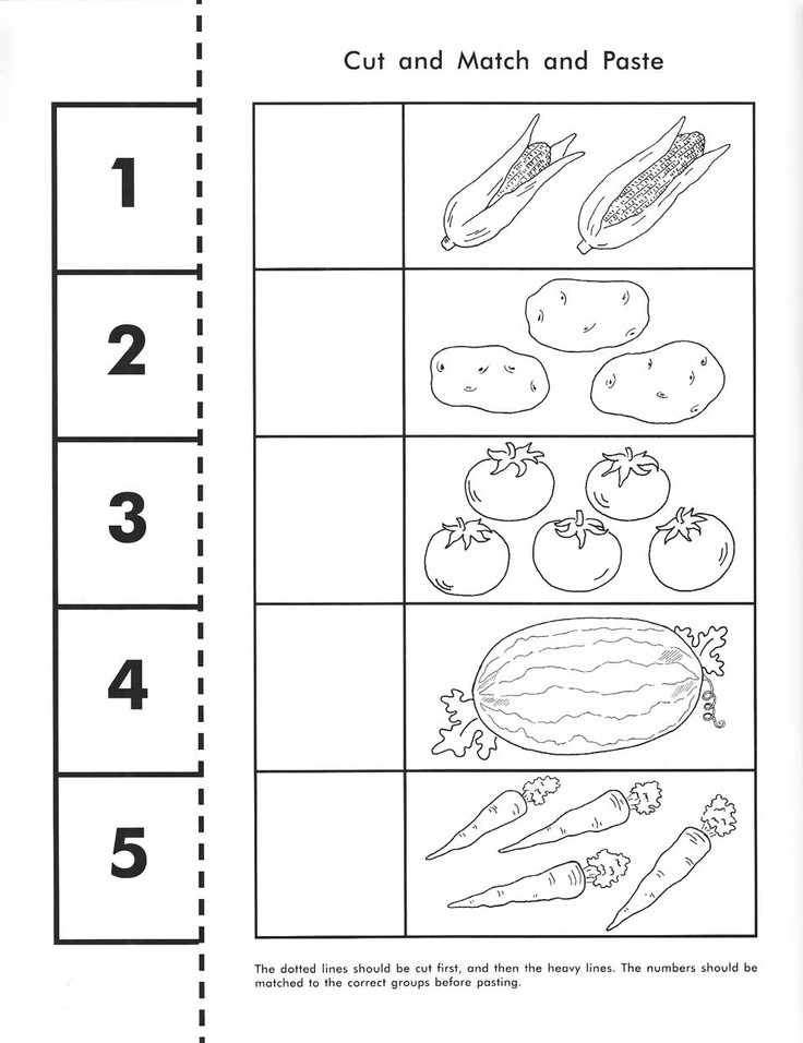 Vegetable Worksheets for Preschool Ve Able Counting Worksheet