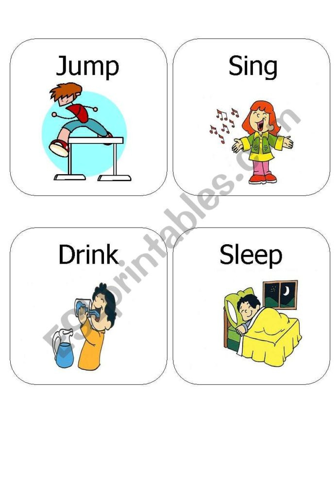 Verbs Worksheets for Middle School Kids Action Verbs Esl Worksheet by Ariangie for Worksheets