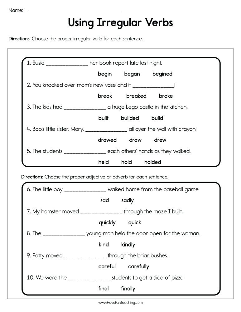Verbs Worksheets for Middle School Nouns and Verbs Worksheets 2nd Grade – Dailycrazynews