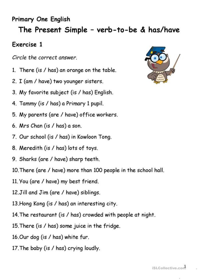 Verbs Worksheets for Middle School Simple Present Tense Verb to Has Have English Esl Verbs