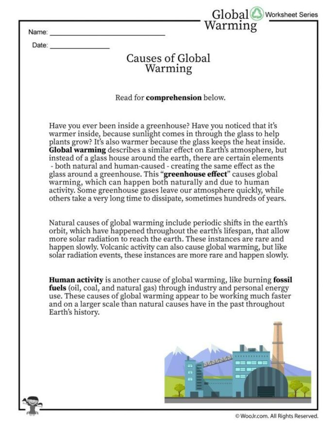 Volcano Worksheets High School the Science Global Warming and Climate Change An