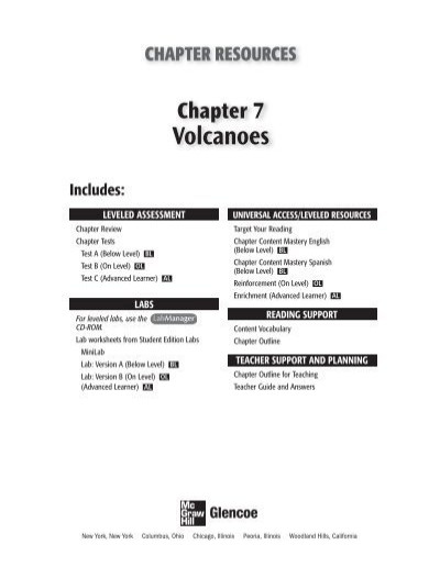 Volcano Worksheets High School Volcanoes Grade 6 Chapter 7 Peary Middle School