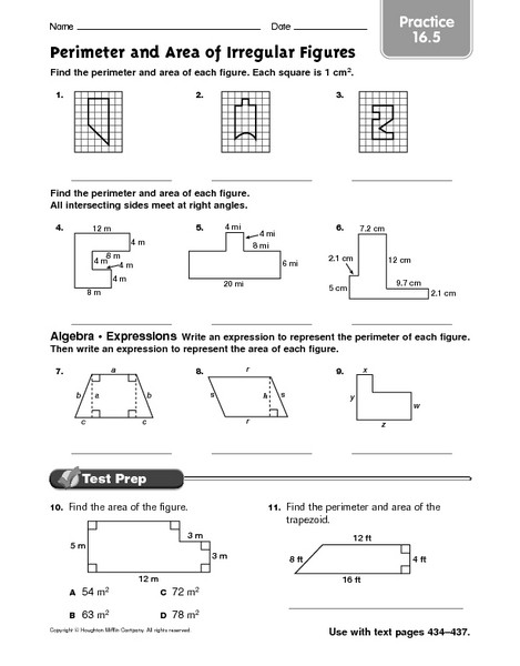 Volume Of Composite Figures Worksheet 28 [ area and Perimeter Irregular Shapes Worksheet
