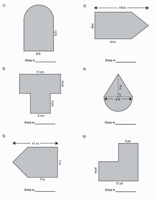 Volume Of Composite Figures Worksheet area and Perimeter Of Pound Shapes Gcse
