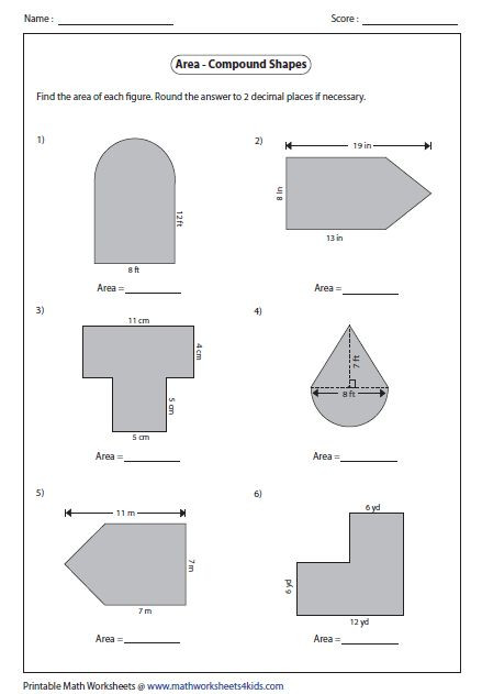Volume Of Composite Figures Worksheet area Of Posite Figures Worksheet 6th Grade Pdf In 2020
