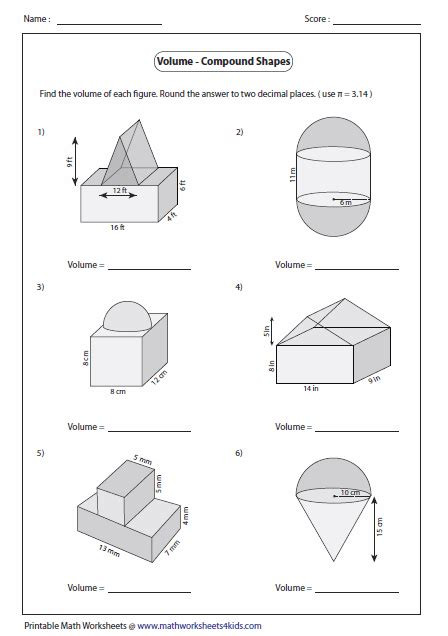 Volume Of Composite Figures Worksheet Download and Read Finding the Volume Posite solids
