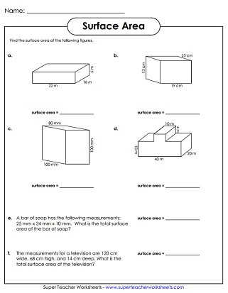 Volume Of Composite Figures Worksheet Surface area Worksheets