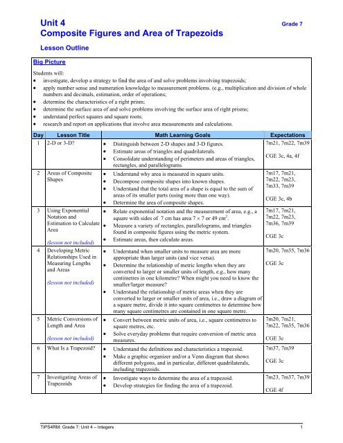 Volume Of Composite Figures Worksheet Unit 4 Posite Figures and area Of Trapezoids