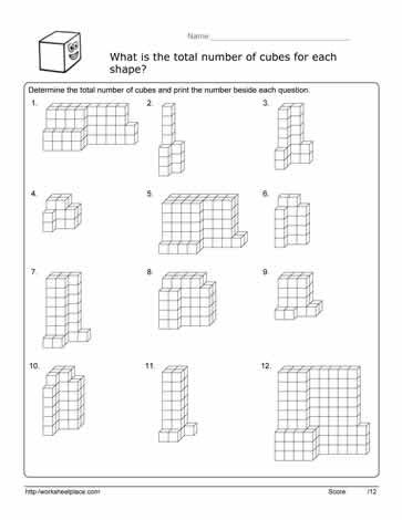 Volume Of Composite Figures Worksheet Volume Cube Worksheet Worksheets