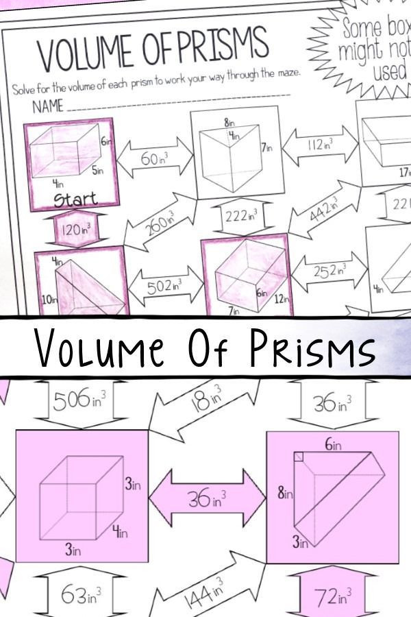 Volume Of Prism Worksheet This Volume Of Prisms Maze Worksheet Was the Perfect