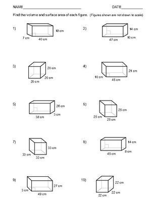 Volume Of Prism Worksheet Volume and Surface area Of Rectangular Prisms Two Worksheets