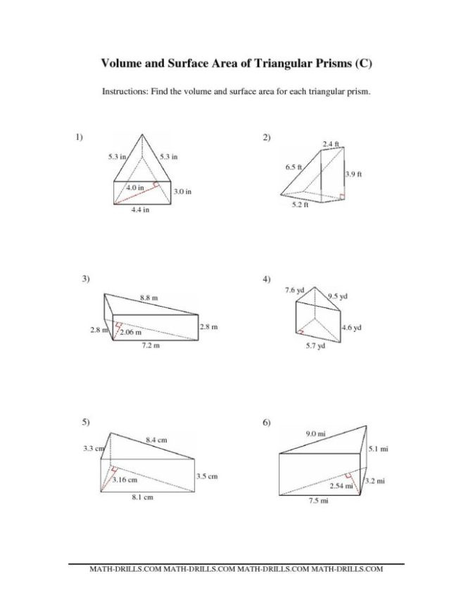 Volume Of Prism Worksheet Worksheet Remarkable Third Standard Maths Worksheets