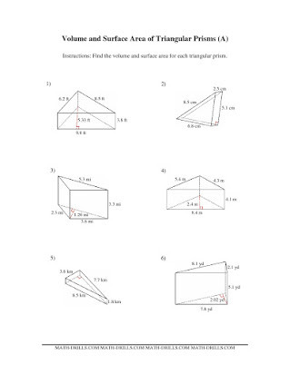 Volume Of Pyramids Worksheet Free Worksheets On Volume Of Prisms and Cylinders