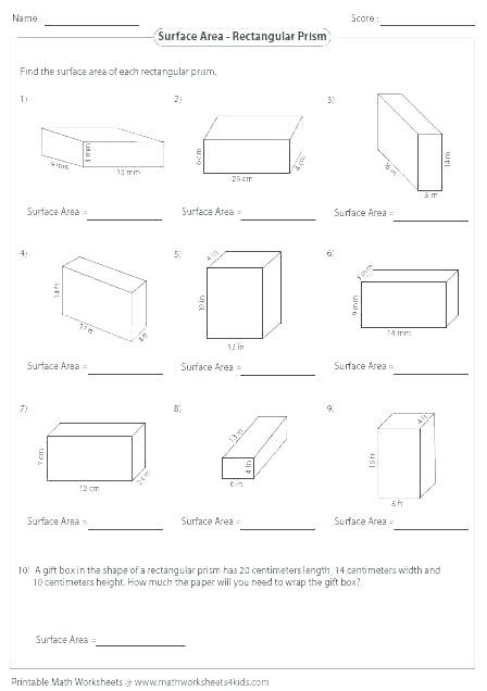 Volume Rectangular Prism Worksheet Finding the Volume Of A Rectangular Prism Worksheet Pdf لم