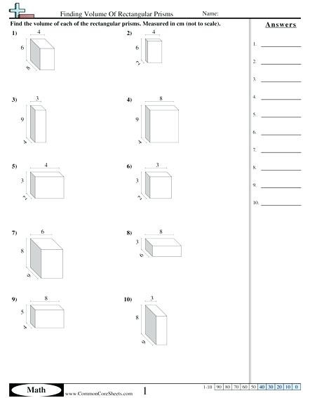 Volume Rectangular Prism Worksheet Sa Of A Rectangular Prism Math – Beatricehewub