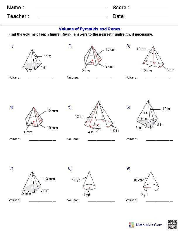 Volumes Of Prisms Worksheet 33 Volumes Prisms and Cylinders Worksheet Answers