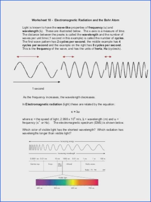 Wave Worksheet Answer Key the Electromagnetic Spectrum Worksheet Answers In 2020