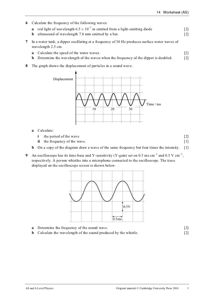Wave Worksheet Answer Key Worksheet 14