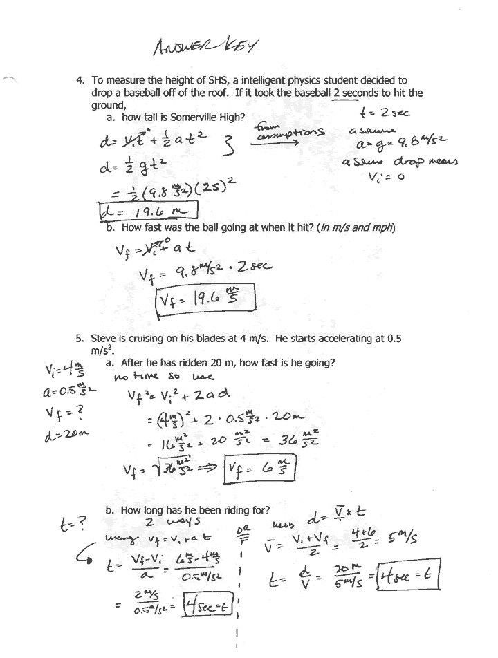 Work and Energy Worksheet Answers Work Energy and Power the Physics Classroom Inducedfo