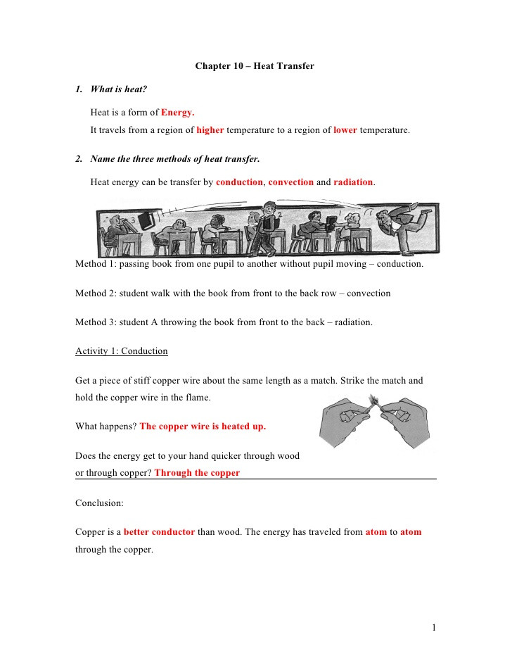 Worksheet Methods Of Heat Transfer 3 Nt Chapter 8 Heat Transfer Classnotes Answer